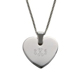 Stainless Steel Heart Shaped Necklace