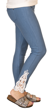 Simply Southern Lace Jeggings - Denim