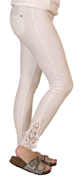 Simply Southern Lace Jeggings - White