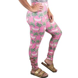 Simply Southern Lattice Leggings - Pink Hammock