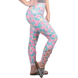 Simply Southern Lattice Leggings - Tropic