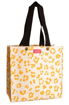Simply Southern Plastic Leopard Mustard Small Tote