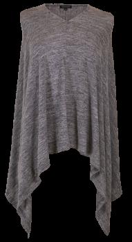 Simply Southern Knit Poncho - Dark Heather Grey