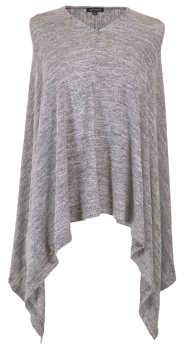 Simply Southern Knit Poncho - Heather Grey