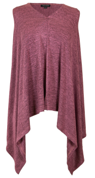 Simply Southern Knit Poncho - Maroon