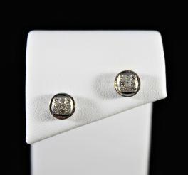 14K White Gold Diamond Earrings - .50Ct