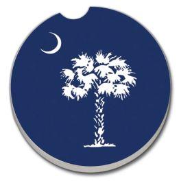Palmetto Moon Car Coaster - Blue
