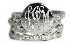Sterling Silver Stackable Engravable Ring