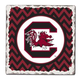 Gamecock Tumbled Tile Coasters - 4-Pack