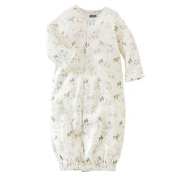 Little Lamb Convertible Muslin Sleep Gown - 0-3 Months
