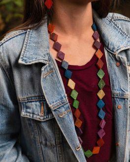 Anju Omala Long Diamond Necklace - Multi