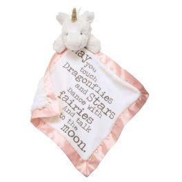 Pink Unicorn Sentiment Velour Woobie