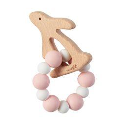 Pink Bunny Wood Teether