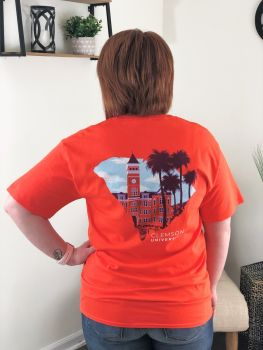 Clemson Broken Border State Short Sleeve T-Shirt