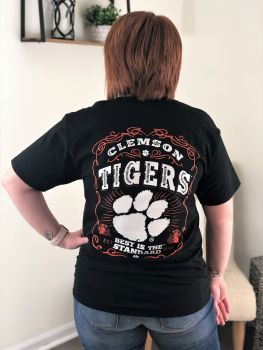 Clemson Tiger Label Short Sleeve T-Shirt
