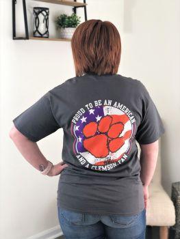 Clemson American Short Sleeve T-Shirt