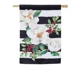 Holiday Magnolias House Suede Flag