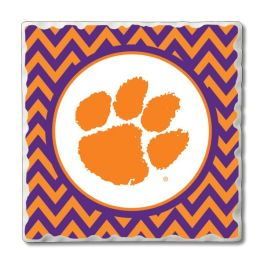 Clemson Tumbled Tile Coasters - 4-Pack