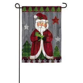 Folk Santa Garden Textured Suede Flag