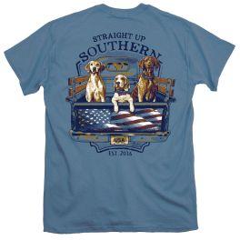 Straight Up Southern USA Trucks Dogs T-Shirt