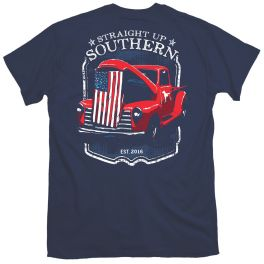 Straight Up Southern Patriotic Truck Hood