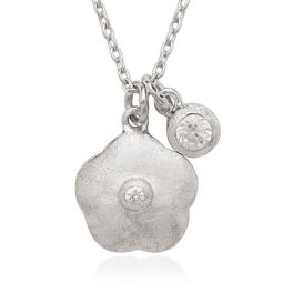 Kids Sterling Silver Small Flower Necklace