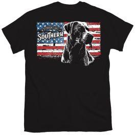 Straight Up Southern Flag Black Lab T-Shirt