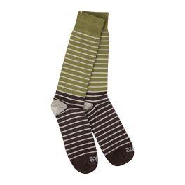 World's Softest Transit Crew Socks - Wood Stripe
