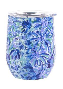 Lilly Pulitzer Stainless Steel Wine Tumbler - High Manetenance