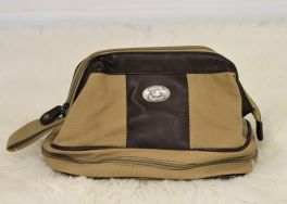 USC Khaki Canvas Toiletry Bag