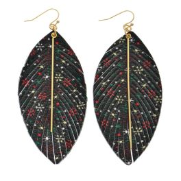 I'll Be Home For Christmas Earrings - Black