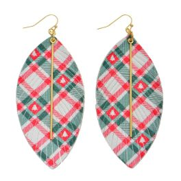 I'll Be Home For Christmas Earrings - Red/Green
