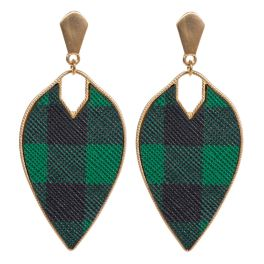 Plaid About You Earrings - Green