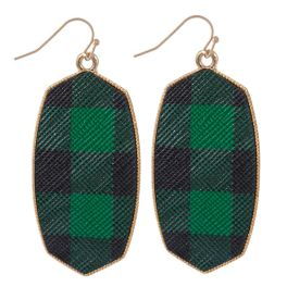 Mad About Plaid Earrings - Green