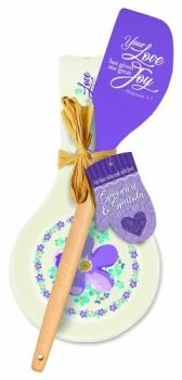 Purple Love Spoon Rest & Spatula Gift Set