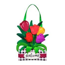 Spring Tulips Door Decor