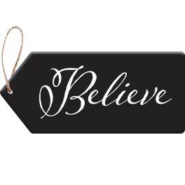 Believe Door Tag