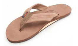 Ladies Medium Dark Brown Rainbow Sandals