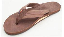 Ladies Large Expresso Rainbow Sandals