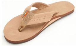 Men's X-Large Sierra Brown Rainbow Flip-Flops