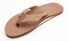 Men's X-Large Dark Brown Rainbow Flip-Flops