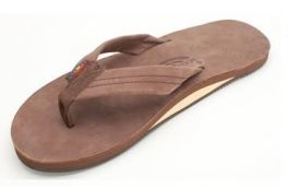 Mens Size Small Expresso Rainbow Sandals
