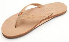 Ladies Size 10 Sierra Brown Narrow Strap Rainbow Sandals