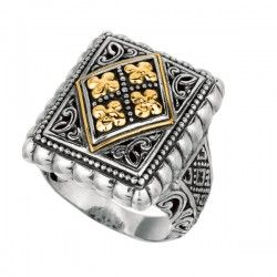 Phillip Gavriel Sterling Silver & 18K Ring - Size 7