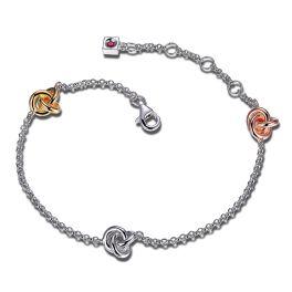 Elle Sterling Silver Love Knot Bracelet