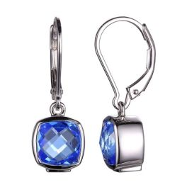 Elle Sterling Silver Blue Quartz Earrings
