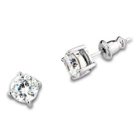Elle Sterling Silver CZ Earrings