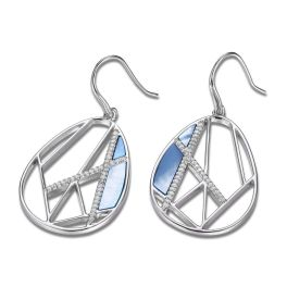 Elle Sterling Silver Charisma Blue Mother Of Pearl Earrings