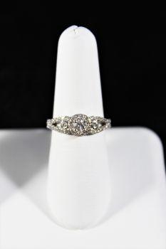 Ladies 14K White Gold Round Diamond Engagement Ring - 5/8Ct - Size 7