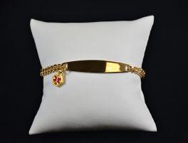 Ladies Medical Alert Bracelet - Gold Tone